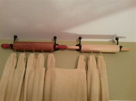 how to hang kitchen curtains 7 creative ways to reuse old rolling pins