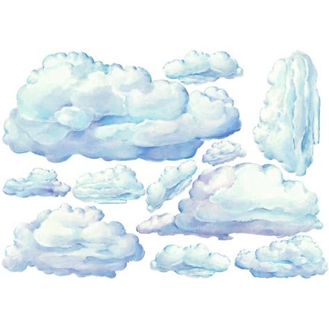wall stickers clouds small set clouds peel and stick wall stickers