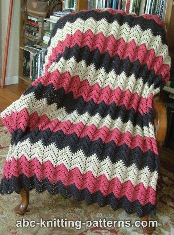 free knitted ripple afghan pattern abc knitting patterns lace ripple afghan