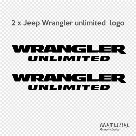 2x Jeep Wrangler Unlimited Logo Sticker Decal Moab