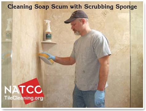 How To Clean And Seal A Travertine Tile Shower Best Way To Remove Soap Scum From Shower Doors