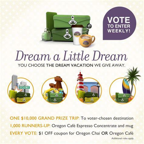 Oregon Sweepstakes - oregon chai dream sweepstakes life with kathy