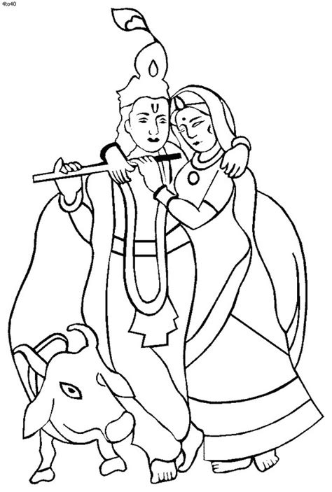 shri krishna janmashtami coloring printable pages for