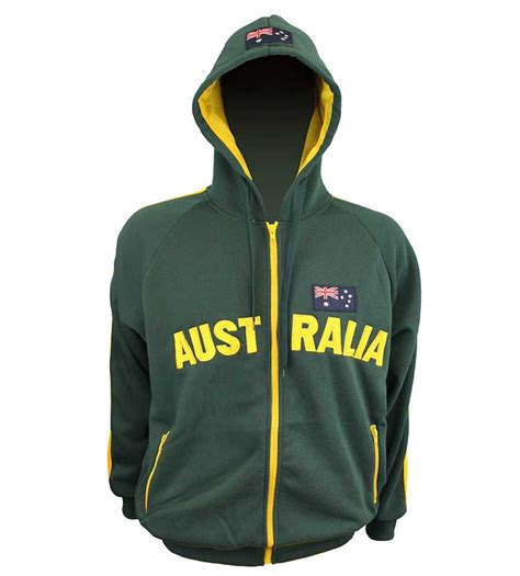 Katarina Jacket Hoodie Set Fit To Xl australia applique hoodie green gold australia the gift australian souvenirs gifts
