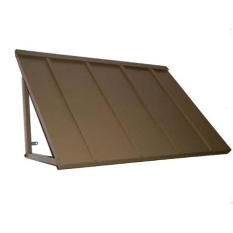 metal awnings home depot beauty mark awntech s 3 ft houstonian metal standing seam awnings 44 in w x 24 in