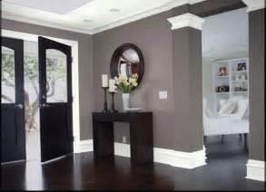 gray walls white trim dark floors white trim gray walls dark doors