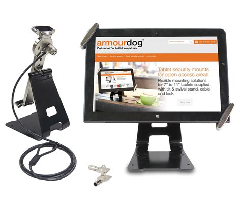 10 Tablet Security Mount - armourdog secure tilt and swivel security mount stand for