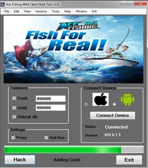 cara mod game ace fishing ace fishing wild catch hack cheat tool free 100 working