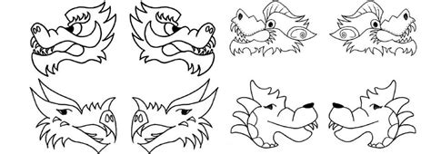chinese dragon craft template www pixshark com images