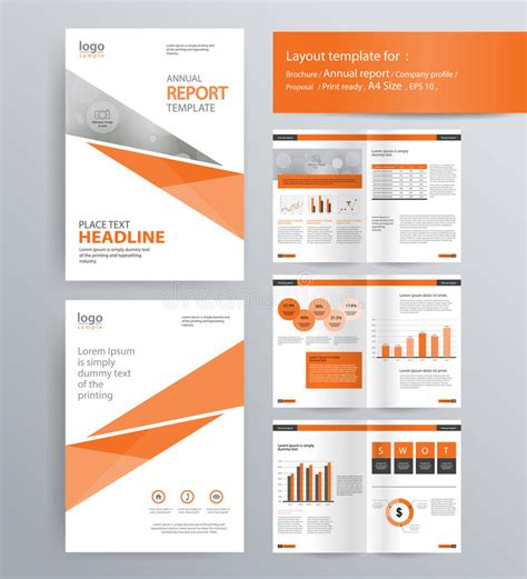 Annual Reports Templates For Companies Page Layout For Company Profile Annual Report And