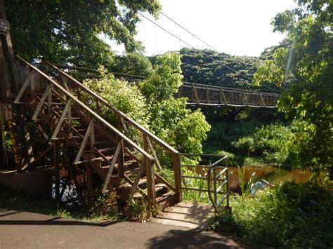 swinging bridge kauai waimea swinging bridge kauai surf company