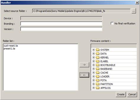 cara membuat file firmware ftf dari xperiafirm menggunakan cara membuat sony stock ftf rom menggunakan pc companion