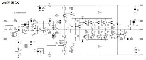 Kit Power Sanken Stereo Pa 400w Altis Rakitan Power 500w pa lifier with layout apex b500 circuit diagram and layout modules