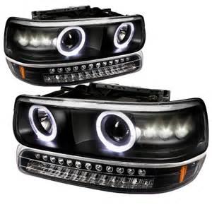 99 02 chevy silverado suburban tahoe halo projector