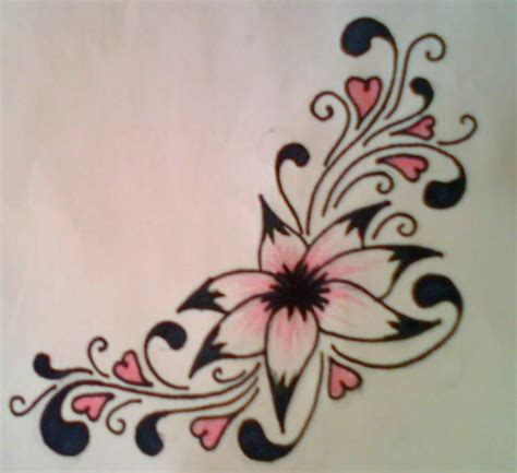 colour flower tattoo designs flower design colour by average sensation on deviantart