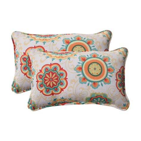 Outdoor Pillows Lowes by Shop Pillow Fairington 2 Pack Multicolor