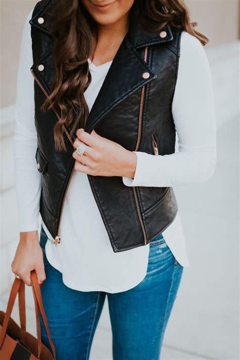 Faux Leather Vest faux leather moto vest a southern drawl