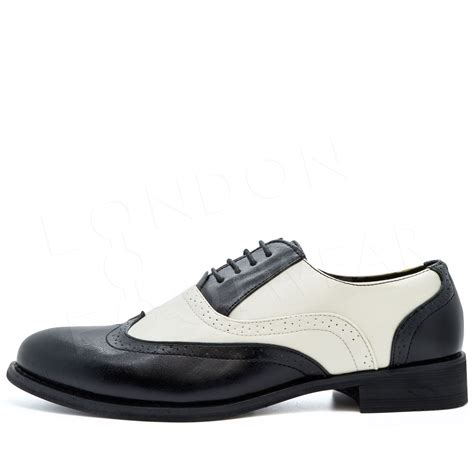 gangster shoes new mens two tone brogues formal gangster leather lace up