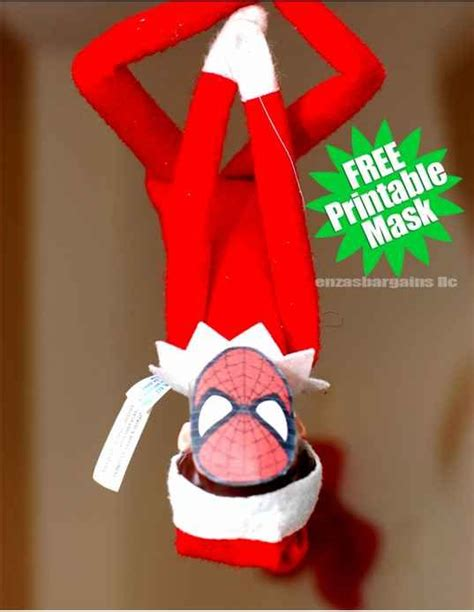 printable elf on shelf mask masks printables and elf on the shelf on pinterest