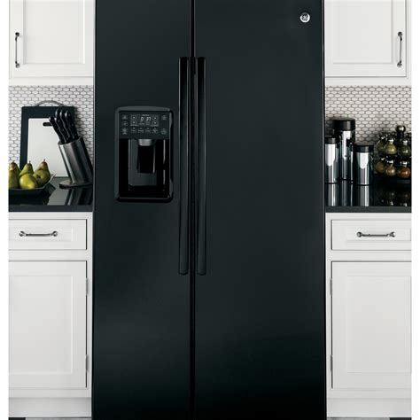 ge profile kitchen appliances pse25kghbb ge profile series 25 4 cu ft side by side