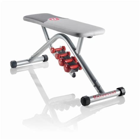 bench with dumbbells universal flat bench with dumbbells