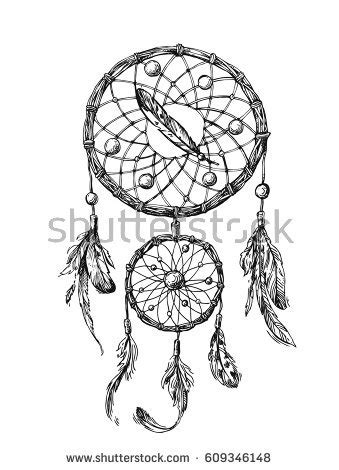 american inspired coloring book dreamcatcher 50 tribal mandalas patterns detailed designs books beautiful vector boho style stock vector
