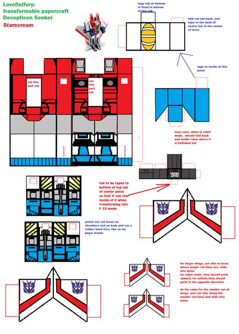 Papercraft Easy - easy transformable papercraft starscream by lovefistfury