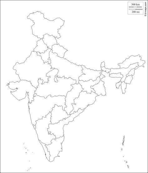 printable india map political free blank political map of india download free