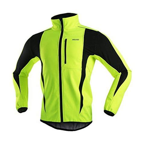 shell winter cycling jacket arsuxeo winter warm up thermal softshell cycling jacket