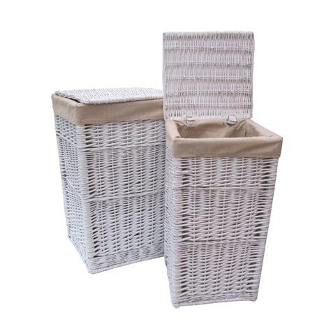 white wicker laundry square white wicker laundry basket