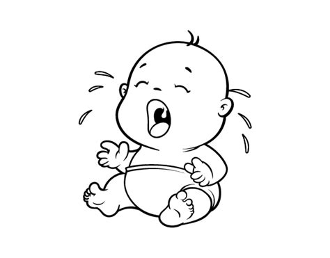 Coloring Page Of Crying Baby | baby crying 1 coloring page coloringcrew com