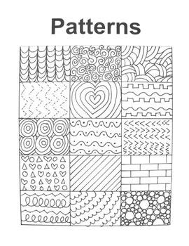 patterns in c with exles pattern handout for art education early finishers