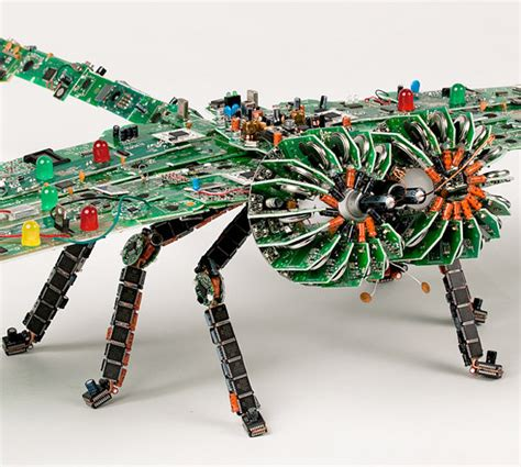 how it s made integrated circuits circuit board dragonfly be glad this thing doesn t fly technabob