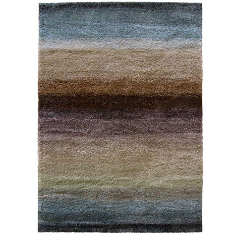 Rainbow Area Rug Orian Rugs Layers Rainbow 5 Ft 3 In X 7 Ft 6 In Area Rug 231700 The Home Depot