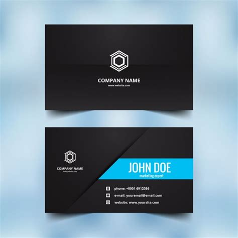 beautiful visiting card design vector free