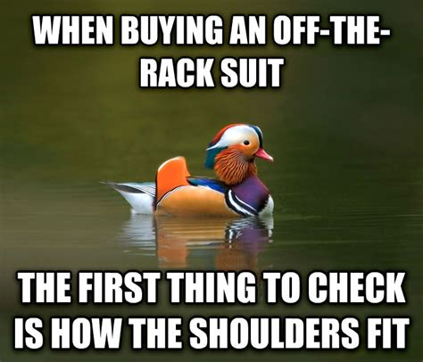 Buying A Suit The Rack by Livememe Fashionable Advice Mallard