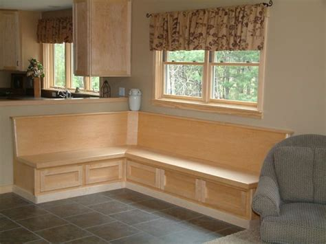 built in bench in kitchen kitchen bench seating with storage model center