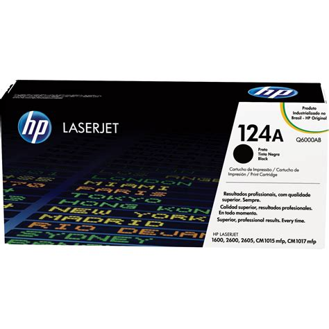 Hp Laserjet 124a hp laserjet 124a black print cartridge q6000a b h photo