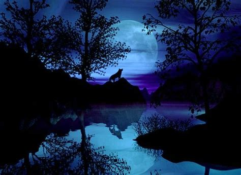 bing images beautiful moon paintings of flowers wolves and wolf painting on pinterest