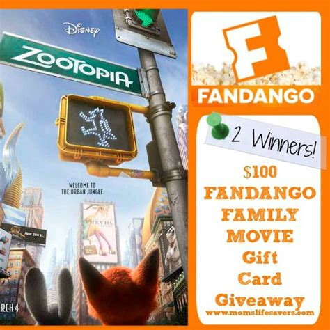 What Movie Theaters Take Fandango Gift Cards - fandango gift card giveaway mom s lifesavers