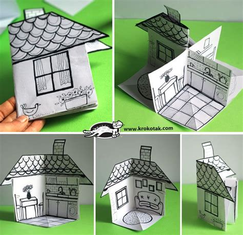 How To Make 3d Paper Crafts - 25 best ideas about paper houses on house