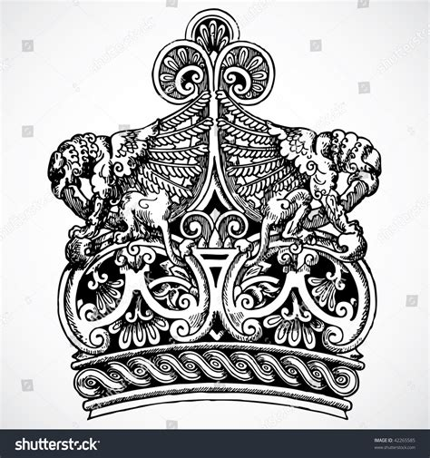 crown ornaments vector crown ornament stock vector 42265585