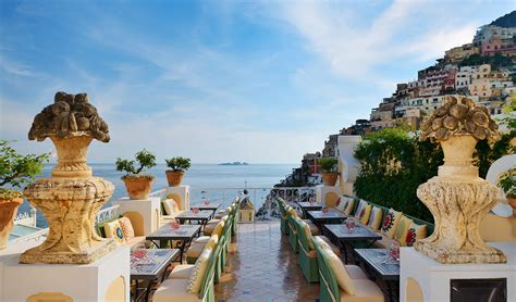 best restaurants in positano italy le sirenuse hotel in positano italy