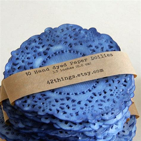 colored paper doilies colored paper doilies set of 10 cobalt blue for by
