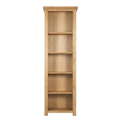 Narrow Oak Bookcase Finewood Studios Furniture Ltd Eleanor Oak Narrow Bookcase P56