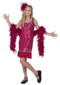 Fuchsia sequin girls flapper costume girls roaring twenties costumes