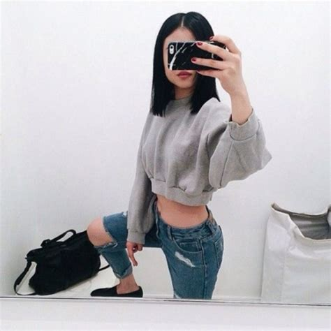 Vetements Hoodie Mirror 1 1 Like Authentic sweater grey sweater ripped black purse