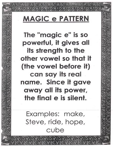magic e pattern reading tips meadow lane elementary