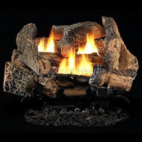 tupelo 2 18 quot or 24 quot vent free fireplace gas logs complete