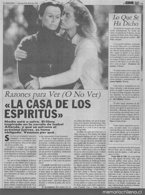 gratis libro la casa de los espiritus para leer ahora razones para ver o no ver la casa de los esp 237 ritus memoria chilena biblioteca nacional de chile